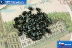 Czech buckwheat beads black travertin (23980-86800) 5mm, 50pc