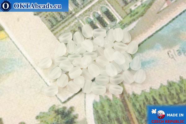 Чешские бусины гречка кристалл матовый (00030-84100) 5мм, 50шт, MK0534