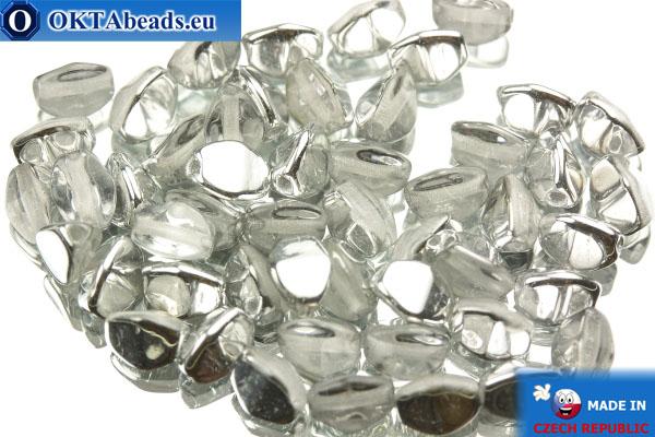 Чешские бусины гречка кристалл серебро (00030/27001) 5мм, 50шт