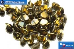 Чешские бусины гречка кристалл золото (00030/98543) 5мм, 50шт PO029