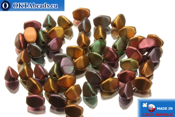 Czech pinch beads metallic mix (00030/01640) 5x5mm, 50pc PO043