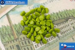 Czech buckwheat beads chartreuse (53420) 5mm, 50pc