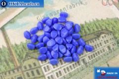 Czech buckwheat beads blue (33050) 5mm, 50pc, MK0538