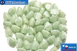 Чешские бусины гречка зеленые (02020/14457) 5мм, 50шт PO005