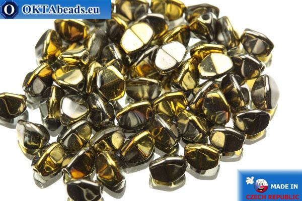 Korálky pohanka zlato stříbro (00030/98547) 5mm, 50ks PO033