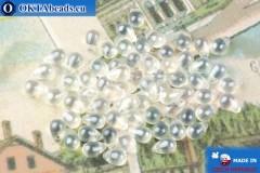 Чешские бусины капли кристалл глянцевый (00030-21402) 4х6мм, 10гр, MK0520