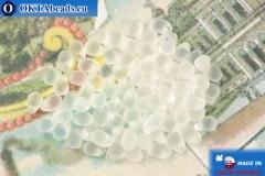 Czech drops beads crystal matte (00030-84100) 4x6mm, 10g MK0503