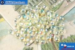 Чешские бусины капли кристалл радужный (00030-98539) 4х6мм, 10гр, MK0527