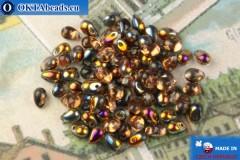Czech drops beads crystal vitrail (00030-29501) 4x6mm, 10g