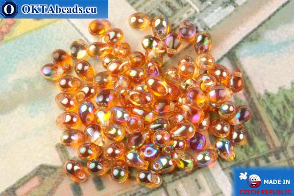 Чешские бусины капли топаз радужный (00030-98535) 4х6мм, 10гр MK0504