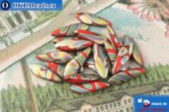 Český korálky jazýčky červený vitrail matný (93200-2817V) 5x16mm, 20ks MK0529