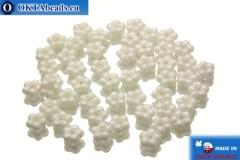 Чешские бусины колокольчики белые глянцевые (02010/14400) 5х5мм, 50шт