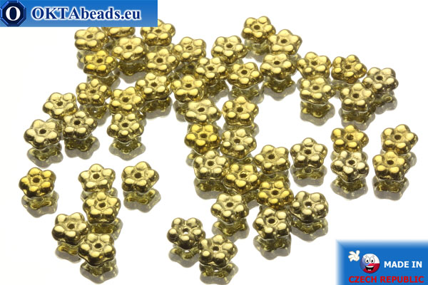 Český korálky zvonek zlato (00030/26440) 5x5mm, 50ks MK0039
