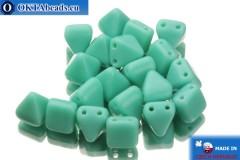 Pyramid czech beads turquoise (63120) 6x6mm, 20pc MK0100