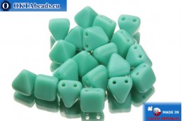 Pyramid czech beads turquoise (63120) 6x6mm, 20pc MK0100