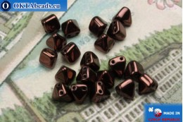 Pyramid czech beads bronze (LE23980) 6mm20pc MK0296