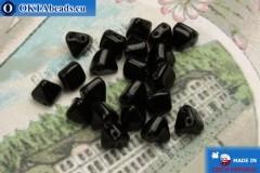 Pyramid czech beads black (23980) 6mm20pc