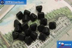 Pyramid czech beads black matte (M23980) 6mm20pc