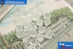 Pyramid czech beads crystal matte (M00030) 6mm20pc MK0300