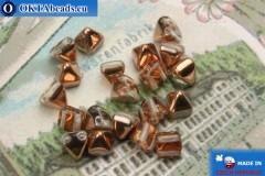 Pyramid czech beads crystal copper (C00030) 6mm20pc MK0309