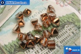 Pyramid czech beads crystal copper (C00030) 6mm20pc MK0309