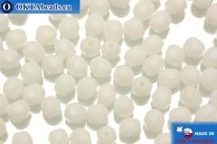 Чешские граненые бусины белые (02010) 4мм, 50шт