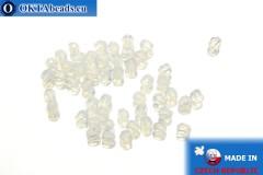 Чешские граненые бусины белые опал (01000) 3мм, 50шт