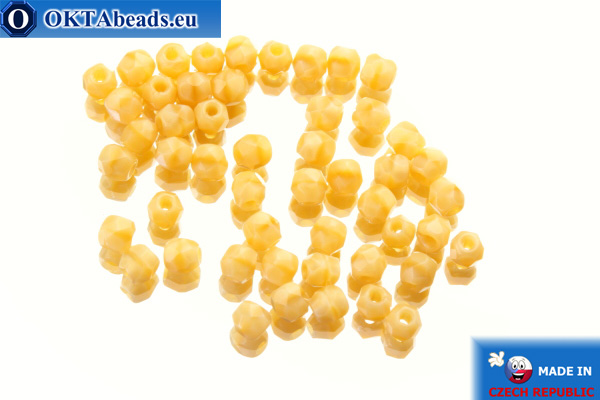 Czech fire polished beads beige (14010) 3mm, 50pc