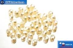 Český korálky ohňovky béžový perlový (70411CR) 4mm, 50ks FP139