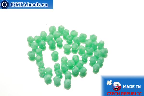 Czech fire polished beads turquoise (54220) 3mm, 50pc