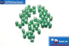 Czech fire polished beads turquoise luster (L63130) 3mm, 50pc