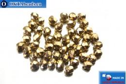 Czech fire polished beads bronze (90215JT) 4mm, 50pc FP148