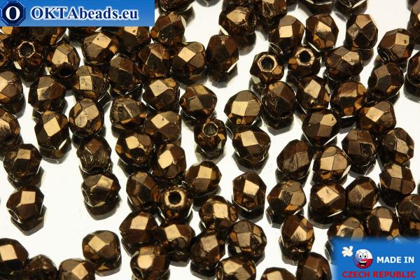 Český korálky ohňovky bronz (90215JT) 3mm, 50ks