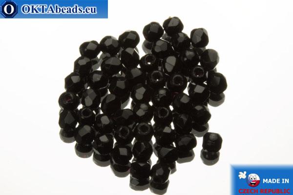 Český korálky ohňovky černý (23980) 2mm, 50ks FP351