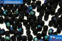 Český korálky ohňovky černý matný AB (MX23980) 3mm, 50ks