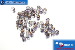 Czech fire polished beads lilac bronze (RR00030) 3mm, 50pc