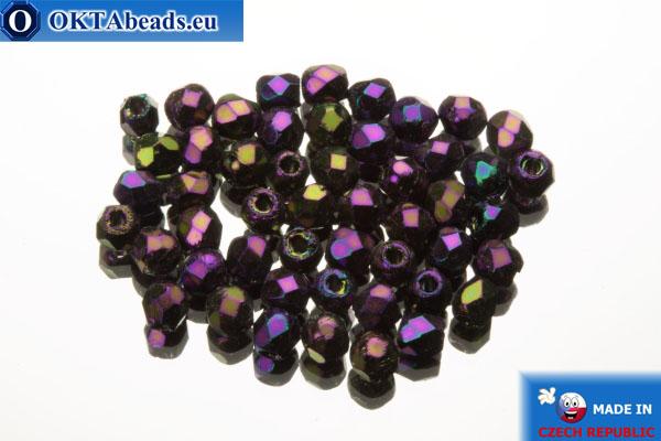 Český korálky ohňovky fialový iris (21495JT) 2mm, 50ks FP360