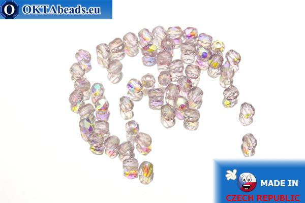 Český korálky ohňovky fialový AB (X20040) 3mm, 50ks