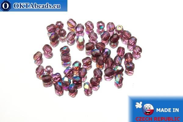 Český korálky ohňovky fialový AB (X20080) 3mm, 50ks