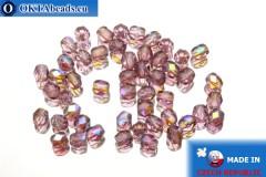 Český korálky ohňovky fialový AB (X20080) 4mm, 50ks