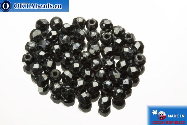 Чешские граненые бусины гематит (L23980) 2мм, 50шт FP334