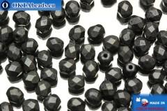 Český korálky ohňovky hematit matný (84400JT) 4mm, 50ks
