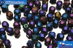 Czech fire polished beads iris (21435JT) 4mm, 50pc