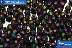 Czech fire polished beads iris (21495JT) 3mm, 50pc