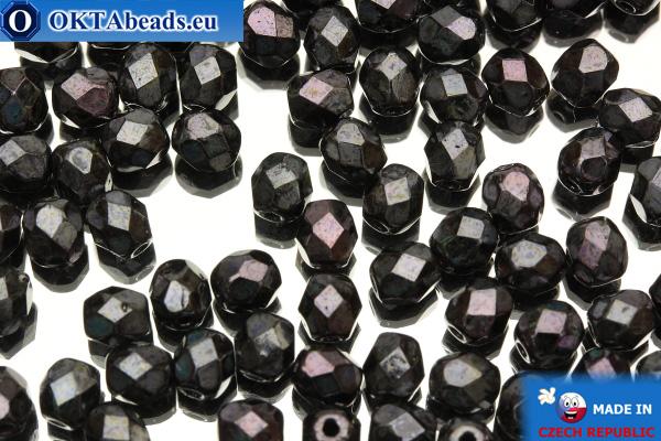 Czech fire polished beads iris (LN23980) 4mm, 50pc