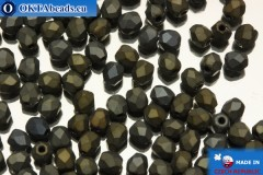 Czech fire polished beads iris matte (21115JT) 3mm, 50pc