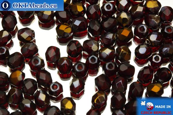 Český korálky ohňovky červený bronz (ZR90100) 4mm, 50ks