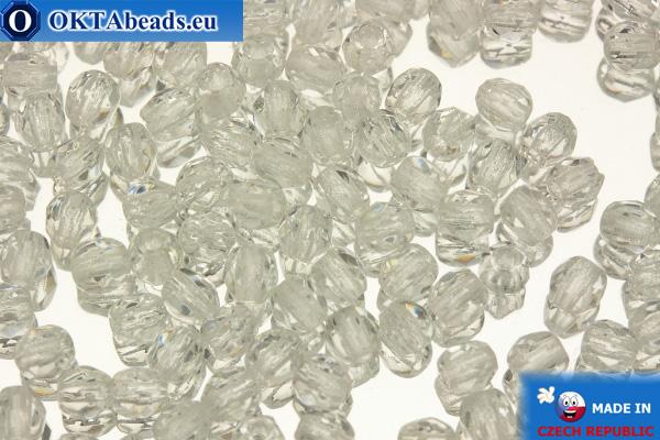 Czech fire polished beads crystal (00030) 3mm, 50pc