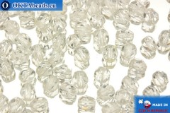 Czech fire polished beads crystal (00030) 4mm, 50pc