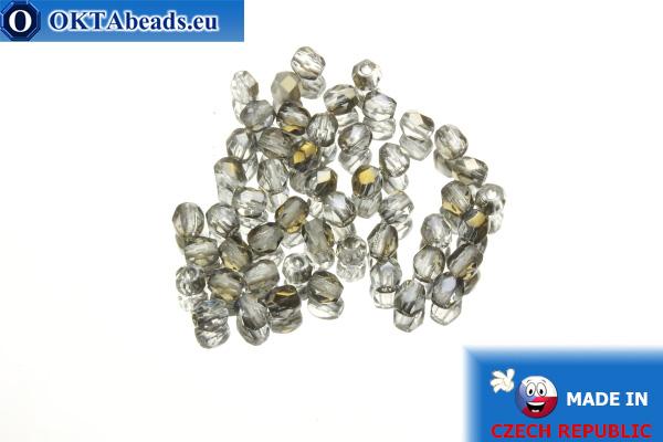Český korálky ohňovky čirý bronz (ZR00030) 3mm, 50ks